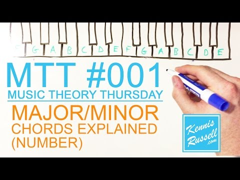 Major / Minor Chords Explained With Numbers