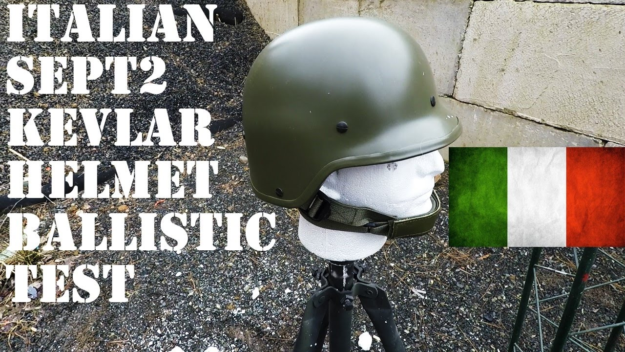 ballistic test italian sept2 kevlar army helmet youtube. Black Bedroom Furniture Sets. Home Design Ideas
