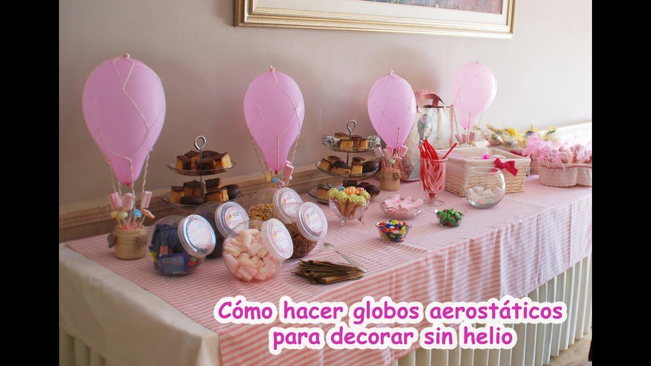 Globo aerost tico para decorar fiestas cumplea os bautizos y comuniones youtube - Como decorar un salon para bautizo ...