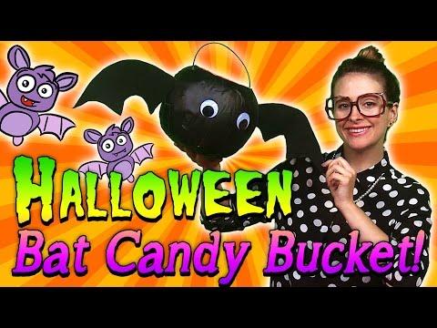 Halloween Bat Candy Bucket | Arts & Crafts with Crafty Carol at Cool School