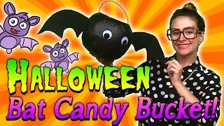 Halloween Bat Candy Bucket | Arts & Crafts With Crafty Carol At Cool School