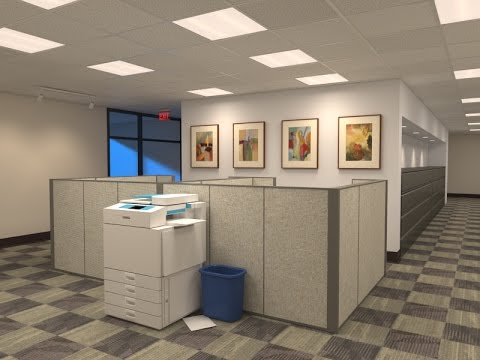 Office Lighting - Vray -3dsMax 2016 FREE Download entire file