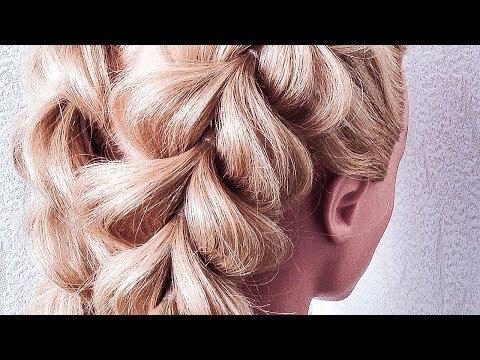 Красивая и простая прическа на длинные волосы своими руками