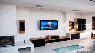 Установка домашнего кинотеатра в дизайн интерьера(Дизайнерские решения Домашнего Кинотеатра для красивых интерьеров. В стиле интерьера и мебели. Проекторы..., 2013-05-10T20:29:44.000Z)