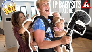 JAKE PAUL BABYSITS OUR GIRLS ALONE AT TEAM 10 HOUSE (UNBELIEVABLE)
