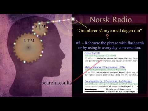 Norwegian Language: (Radio) Remembering Words and Phrases Pt.2 - Listening to Radio and Podcasts