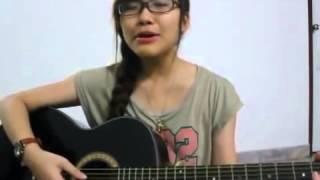 guitar cover   em xinh hát tặng người yêu thật xúc động
