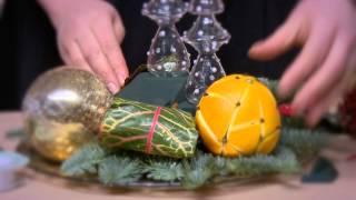 Делаем ароматное украшение для стола с помощью апельсина и гвоздики! Цветочный бум. Выпуск 2