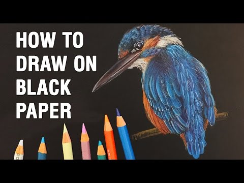 How to Draw with Colored Pencils on Black Paper: TIPS and WALKTHROUGH