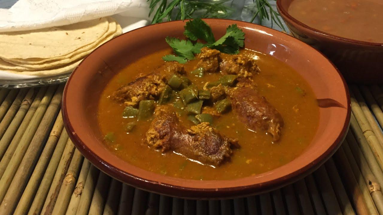 longaniza en salsa verde