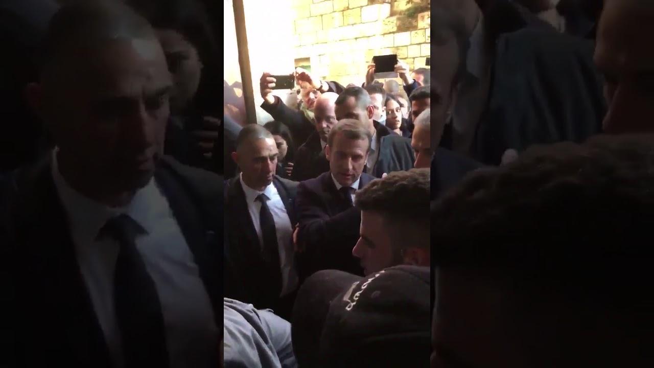 الرئيس الفرنسي يطرد الأمن الإسرائيلي في القدس