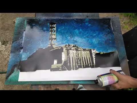 CHERNOBYL Spray art painting HBO art by Homenko ART
