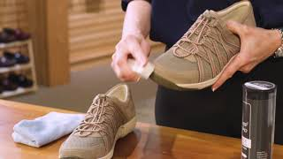 Dansko shoe care: how to apply suede & nubuck sprayshop spray: https://www.dansko.com/suede-nubuck-spray there are several types of sho...