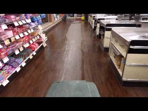 LVT cleaning with FloorCareMD's BoosterShot cleaner /maintainer concentrate