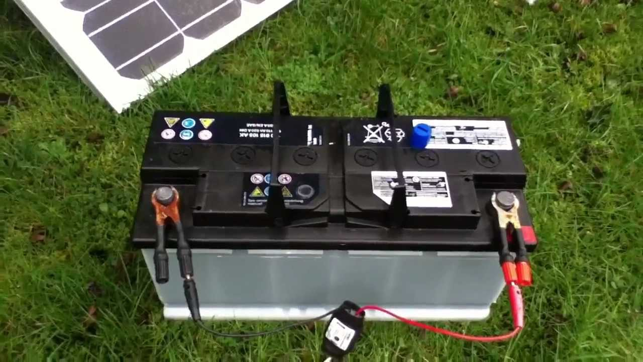 110ah Car Battery Connected To 80w Solar Panel Youtube