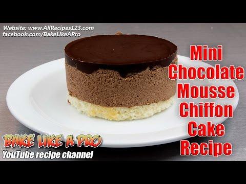 Mini Chocolate Mousse Chiffon Cake Recipe