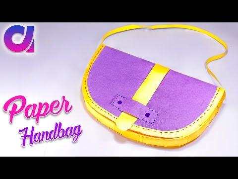 How to make Paper designer handbags | purse | paper craft | Artkala 194
