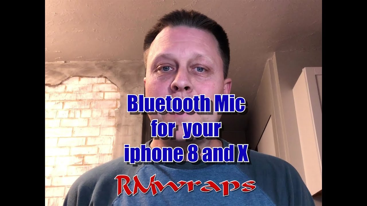 Bluetooth Microphone for the iphone 8 and iphone X Rmwraps com