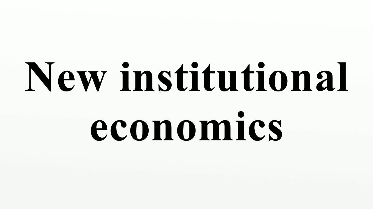 Institutional economics