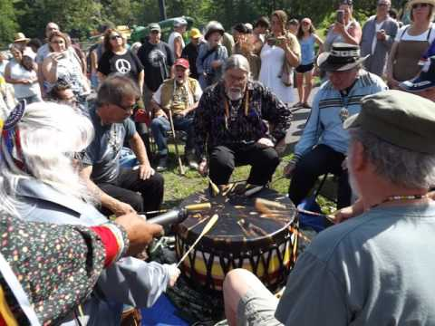 Lenape Honor Drum Song for High Falls, NY -- July 8, 2017