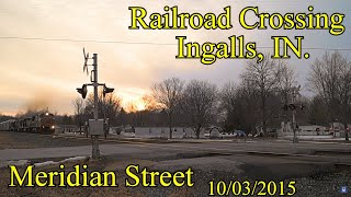 Railroad Crossing: Meridian Street in Ingalls, IN., [CSX] Main Tracks 1&2