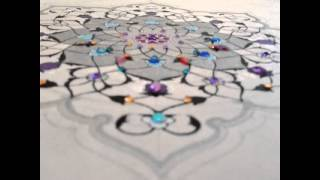 Hand painted Islamic Art- Ayatul Kursi by Shafina Ali , reciter- Qari Ziyad Patel