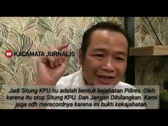 Arusnews. Kejahatan Situng KPU Kacamata Jurnalis