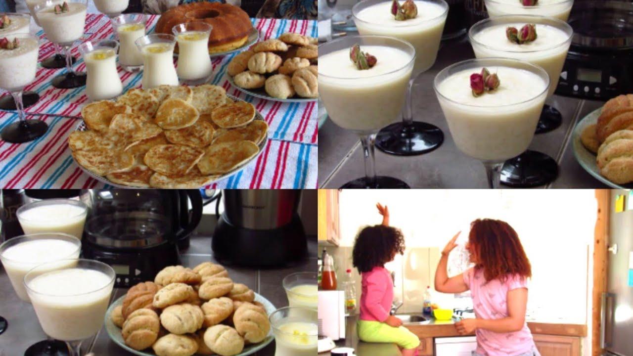 أول يوم عيد الأضحى/طاولة الفطور يوم عيد الأضحى/وصفات سهلة ولديدة حلوى الزبيب الارز بالحليب القطايف و