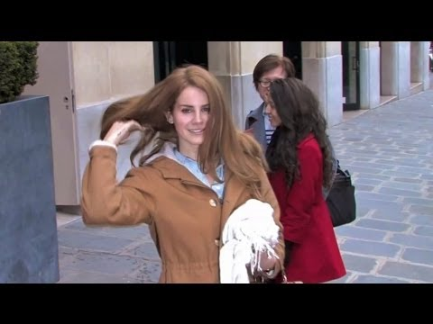 EXCLUSIVE - Lana Del Rey conforting a crying fan in Paris