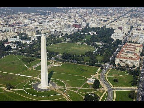 Washington D.C Beautiful Aerial View & Landing
