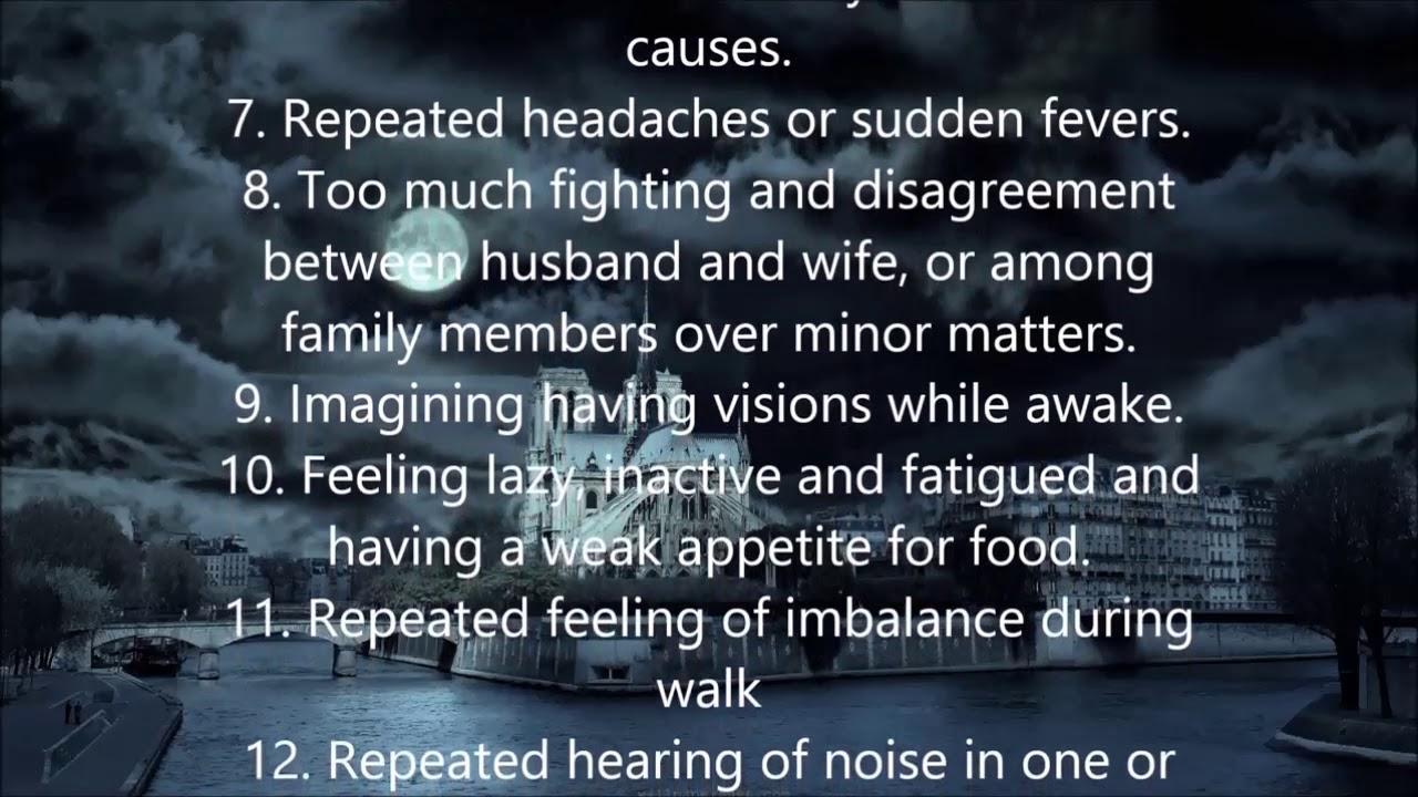 Symptoms of Black Magic, Sihr, Possessions or Evil Eye