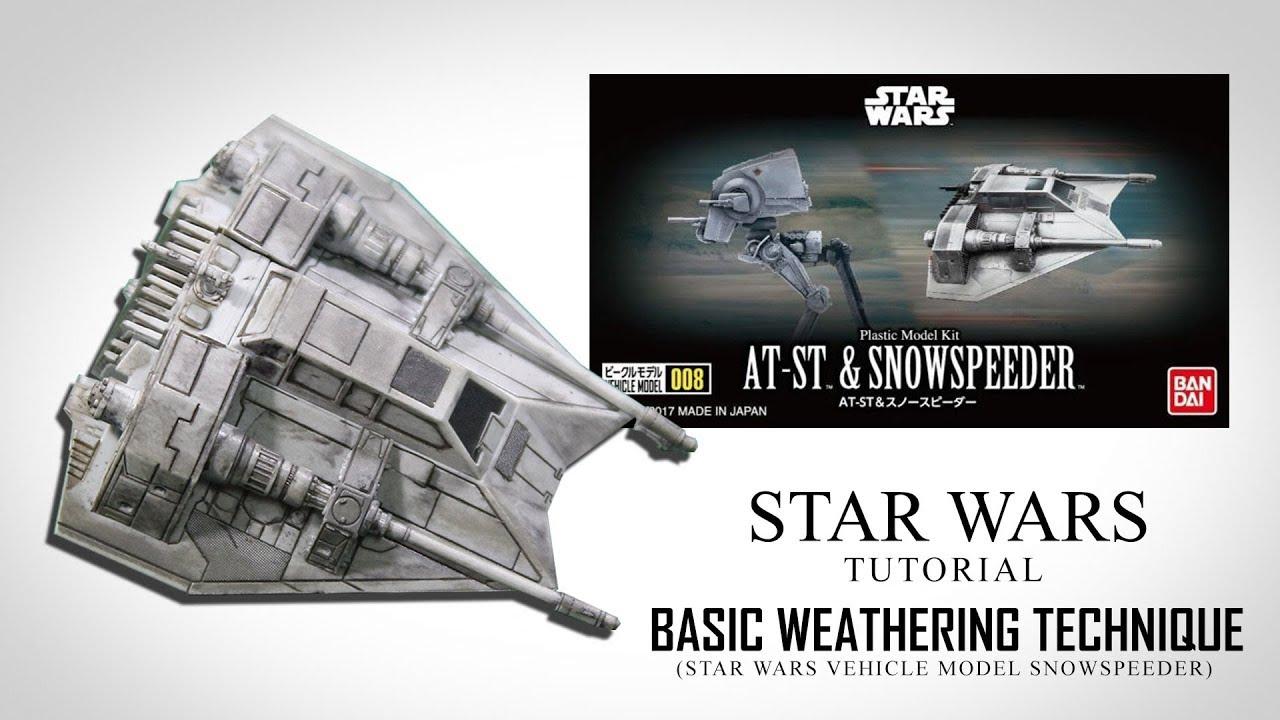 Tutorial - Star Wars Vehicle Model Snowspeedeer (Basic Weathering Technique)