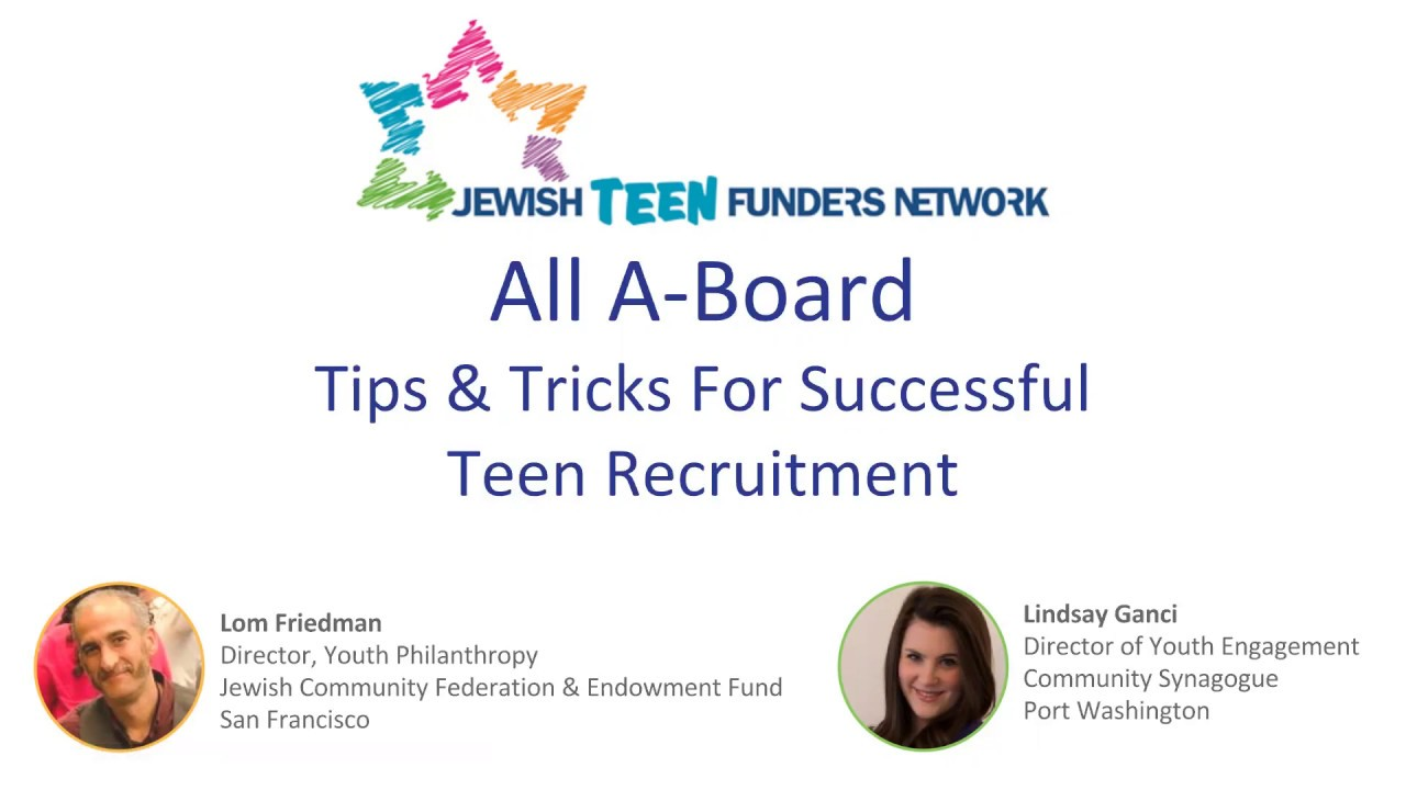 JTFN Webinar: All A-Board! Tips and Tricks for Successful