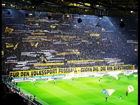 Dortmund protesting against Red Bull Leipzig right now