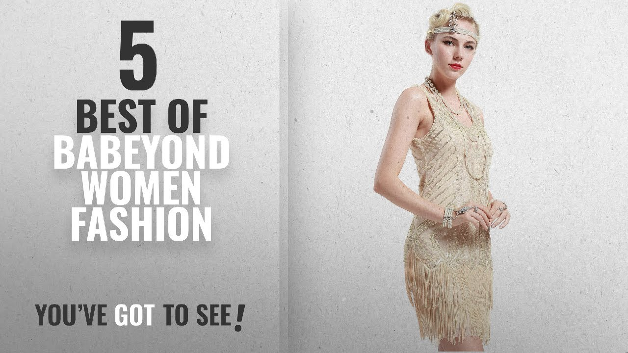 Babeyond Women Fashion 2018 Best Sellers BABEYOND Womens Flapper Dresses 1920s V Neck Beaded