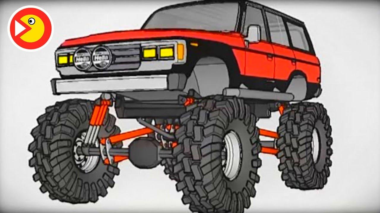 Мультик про машинку Toyota Land Cruiser Мультик для