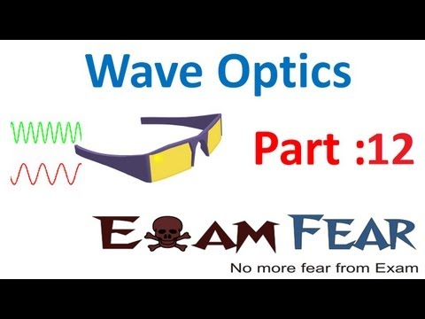 Physics Wave Optics part 12 (Superimposition of waves) CBSE class 12
