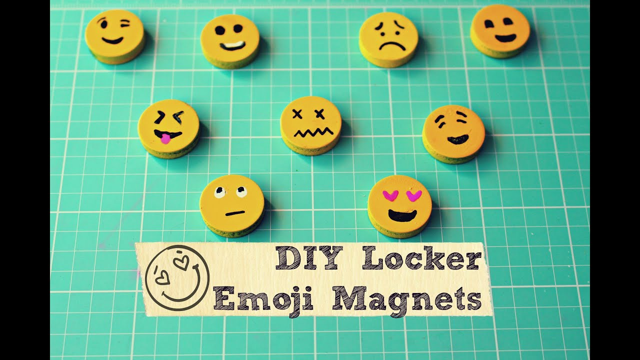 Diy Emoji Locker Magnets Youtube