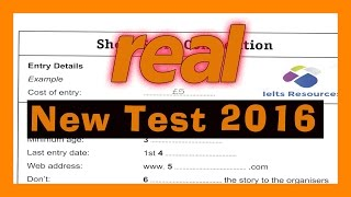 ielts listening practice test 2016 with answers Real Exam