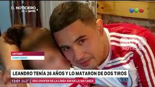 Mataron de dos tiros a un colectivero de 26 años - El Noticiero de la Gente