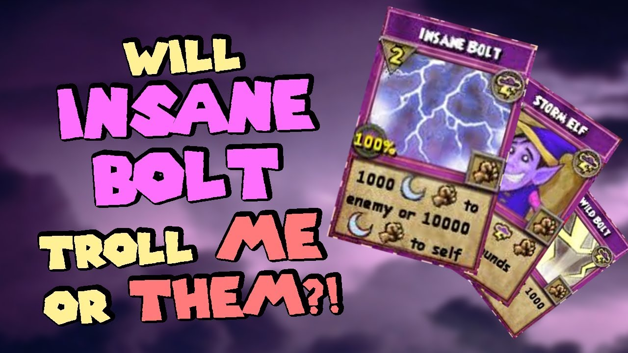 Wizard101 Legendary Storm PvP #1: Putting All My Faith Into INSANE BOLT  [Bolting Boompants 2 0]