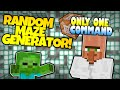 Minecraft | RANDOM MAZE GENERATOR! | Test Subjects | Only One Command (Minecraft Redstone)