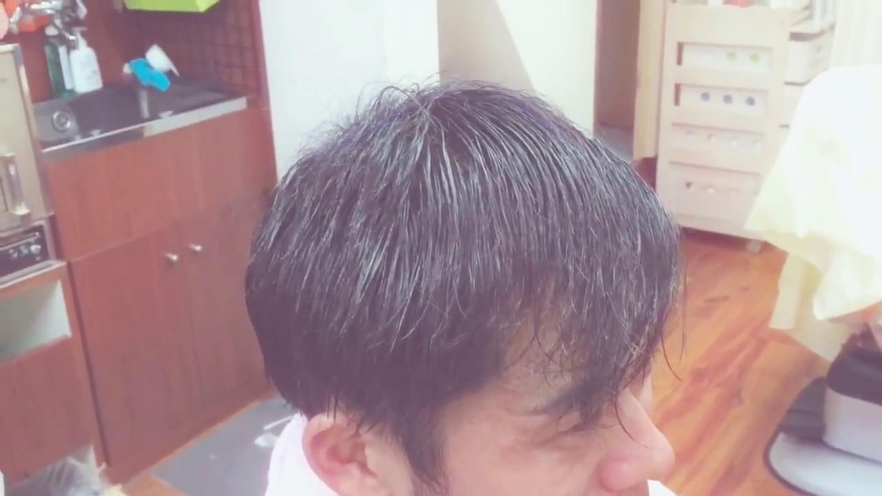 薄毛 パーマ 男