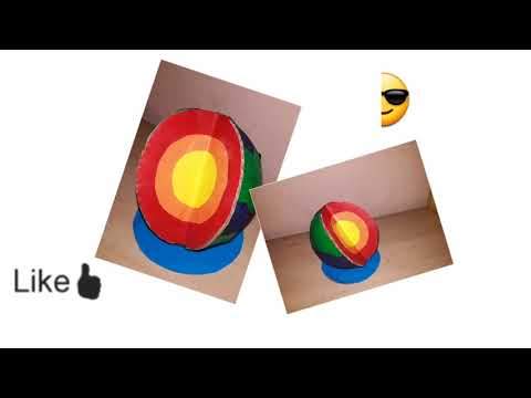 Model of layers of the Earth/crust mantle core/Model earth layers/globe/kansalcreation/sst