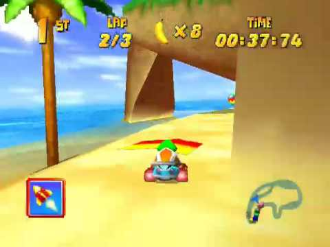 Diddy Kong Racing Walkthrough Pt 29: Crescent Island - YouTube