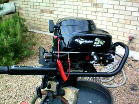 2003 briggs stratton 5hp outboard motor youtube for Briggs and stratton 5hp motor