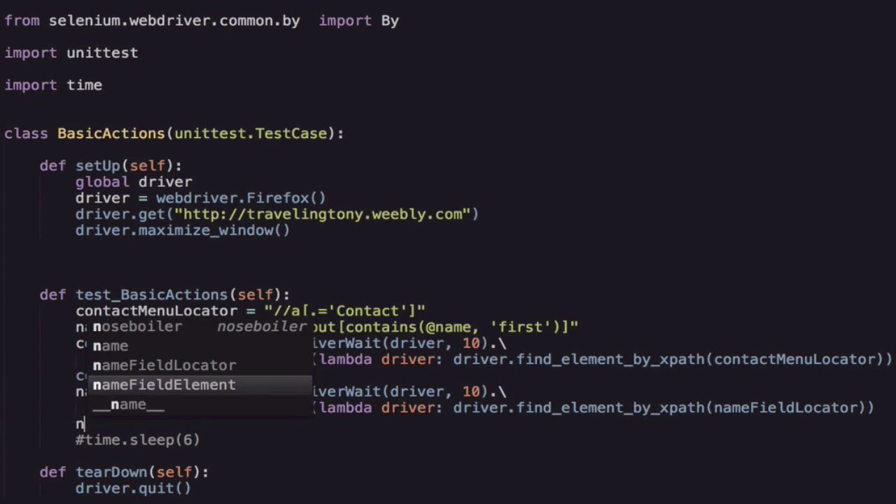 Selenium Python language- Clicking an Element or Sending Keys to an Element