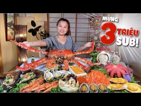 Download Ngon Số Dzách Với Bàn Hải Sản Cùng Cua Hoàng Đế Siêu To Khổng Lồ Mừng 3triệu Sub #588