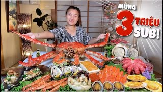 Delicious Dzung With Seafood Table With Giant Super Emperor's Crab To Celebrate 3 Million Sub # 588