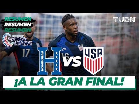 Resumen y goles | Honduras vs Estados Unidos | CONCACAF Nations League - Semifinal | TUDN